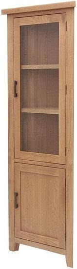 Hampshire Oak 2 Door Corner Display Cabinet