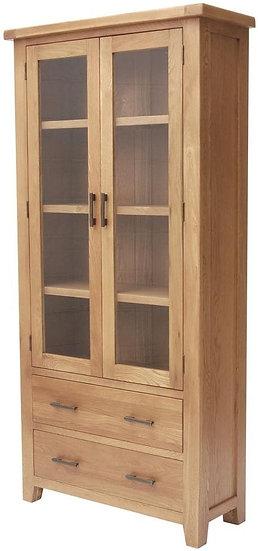Hampshire Oak 2 Door 2 Drawer Display Cabinet