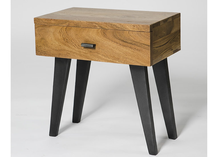 INDUSTRIAL LUXE 1 DRAWER END TABLE