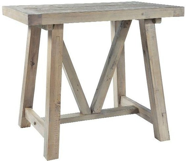 Ashley Rustic Reclaimed Wood Bar Table