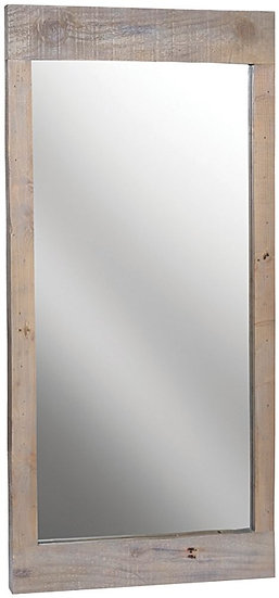 Ashley Rustic Reclaimed Wood Rectangular Wall Mirror