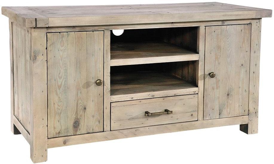 Ashley Rustic Reclaimed Wood 2 Door 1 Drawer TV Unit