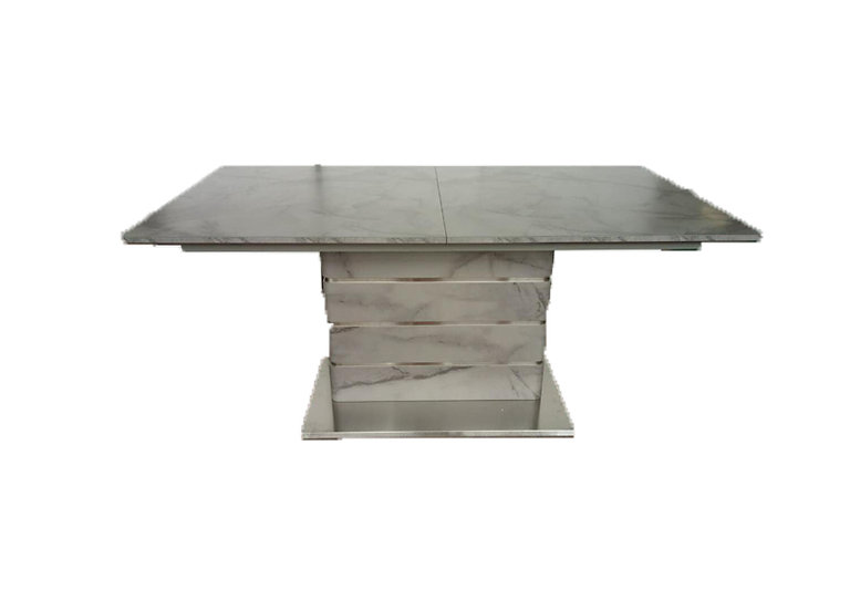 VIXEN EXTENDING MARBLE EFFECT DINING TABLE