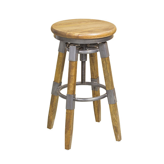 ROSCOE SWIVEL STOOL WITH HEIGHT ADJUSTABLE SEAT