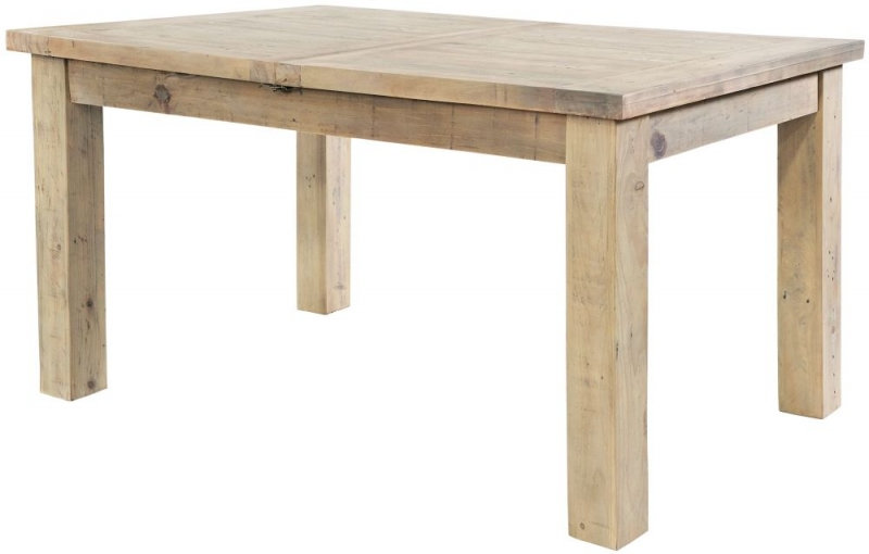 Ashley Rustic Reclaimed Wood 140cm-190cm Rectangular Extending Table