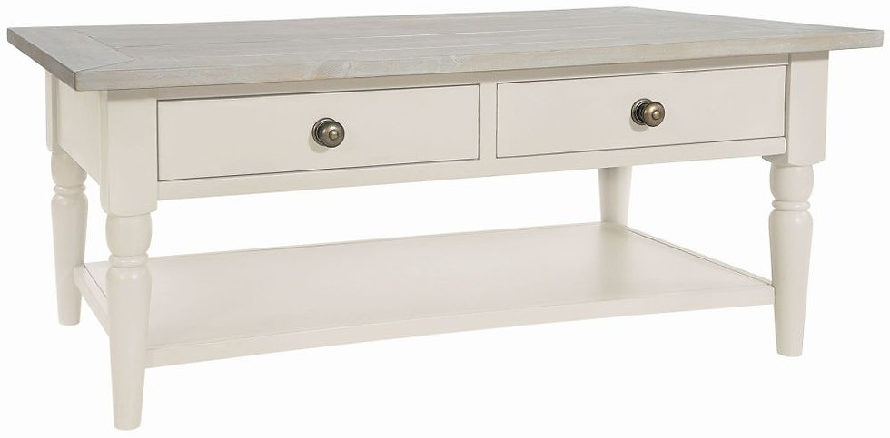 Wakefield Ivory Painted 2 Drawer Storage Coffee Table