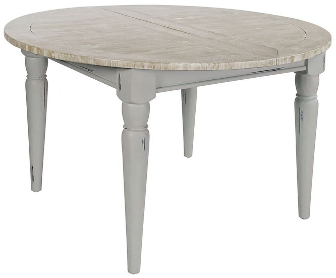 Wakefield Grey Painted 120cm-170cm Round Extending Dining Table