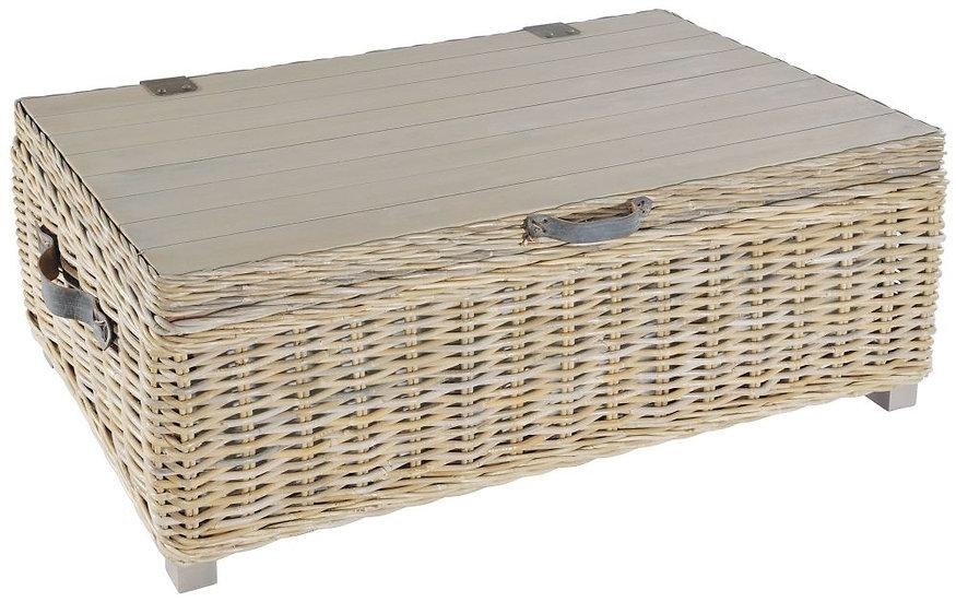 Maze Rattan Grey Storage Coffee Table