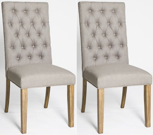 ROYALE LINEN DINING CHAIR (PAIR)