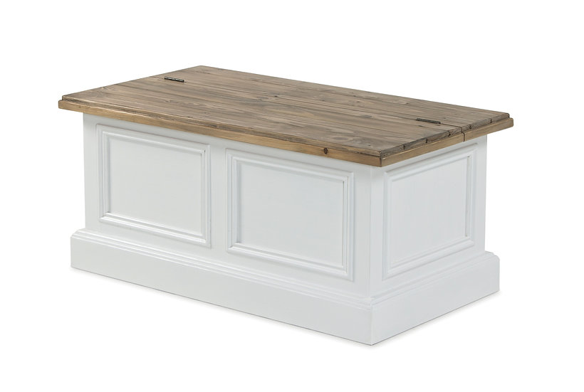 Ashmore Brushed White Storage Coffee Table
