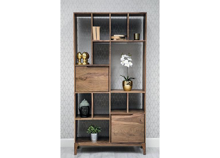 Byron Acacia Wood 2 Door Bookcase