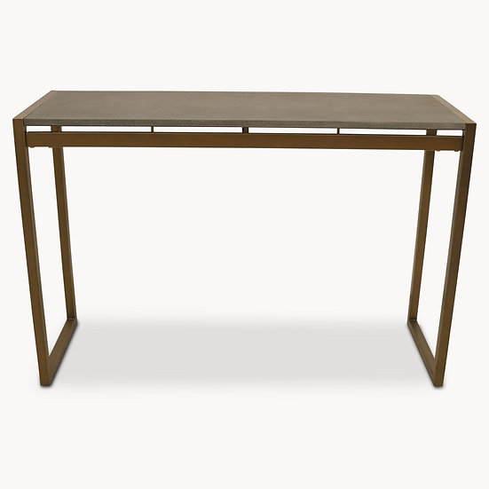 SEYMOUR SHAGREEN CONSOLE TABLE IN ANTIQUE BRASS FINISH