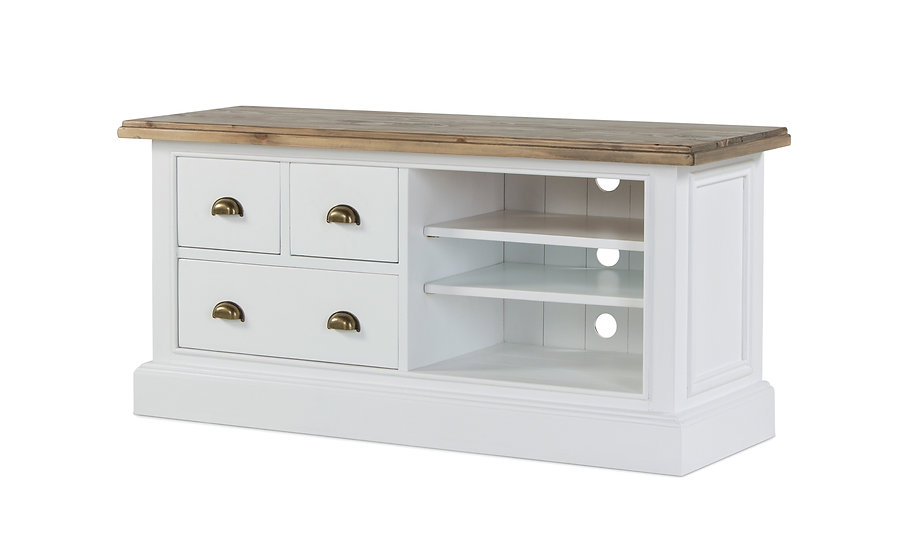 Ashmore Brushed White 2 Drawer TV Unit