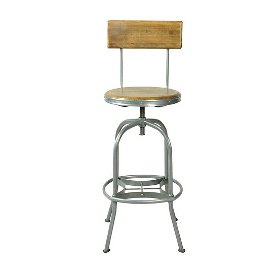 ROSCOE BAR STOOL WITH BACK REST