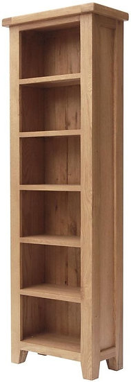 Hampshire Oak Slim Bookcase