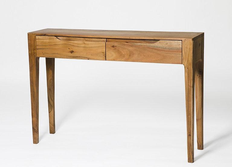 Byron Acacia Wood 2 Drawer Console Table