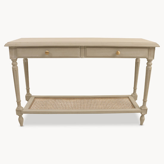 WILTON GREY CONSOLE TABLE WITH DRAWERS