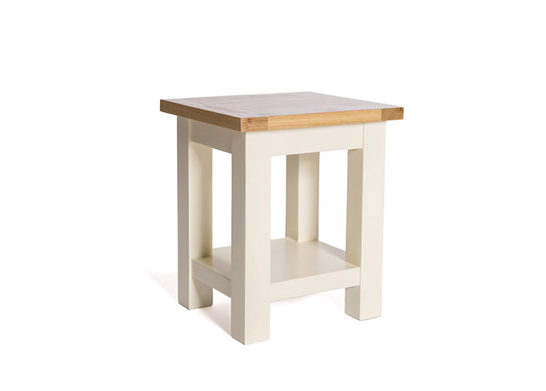 YASMIN PAINTED IVORY END TABLE