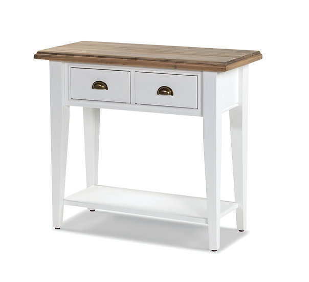Ashmore Brushed White 2 Drawer Console Table