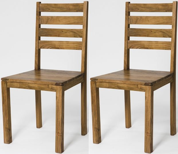 Byron Acacia Wood Dining Chair (Pair)