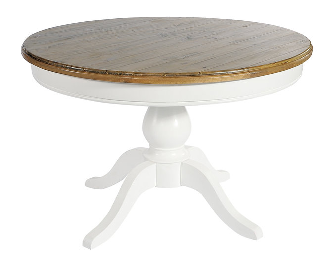 Ashmore Brushed White Round Dining Table - 120cm