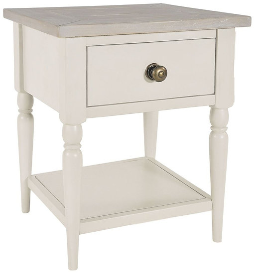 Wakefield Ivory Painted 1 Drawer Lamp Table