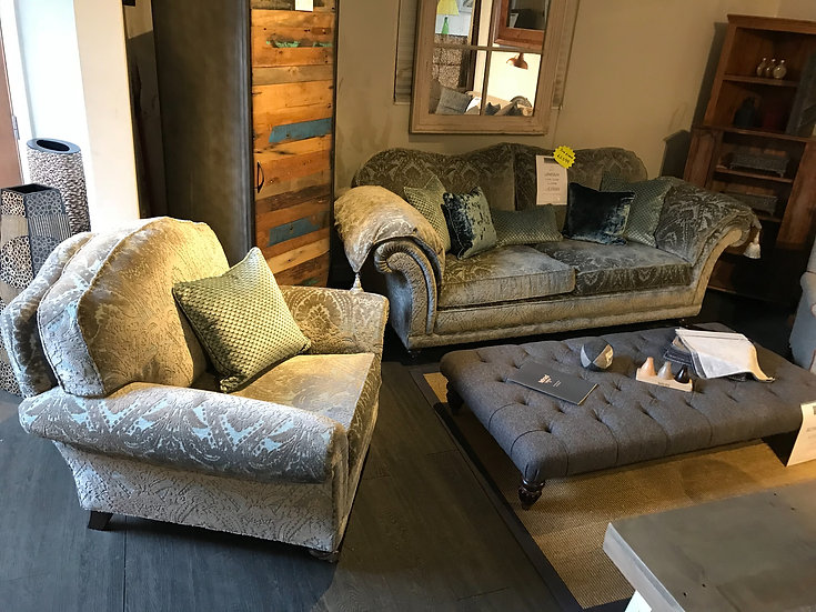 STEED UPHOLSTERY THE LINCOLN 3 SEATER & CHAIR