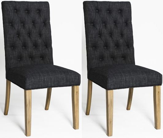 ROYALE GREY DINING CHAIR (PAIR)
