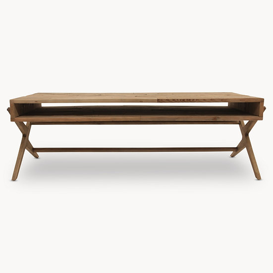 WOODCROFT BLEACHED PINE COFFEE TABLE