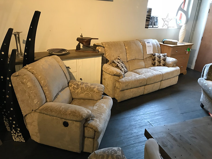MALVERN 3 SEATER & ELECTRIC RECLINER CHAIR