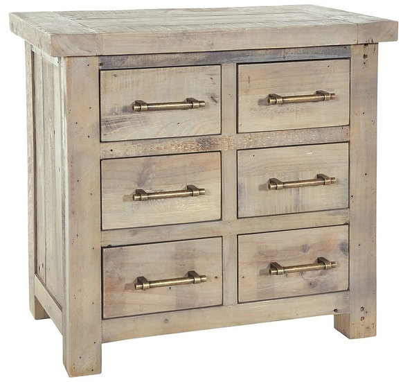 Ashley Rustic Reclaimed Wood 6 Drawer Chest