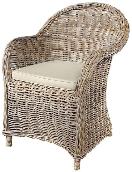 Maze Grey Armchair with Stone Loose Cushion