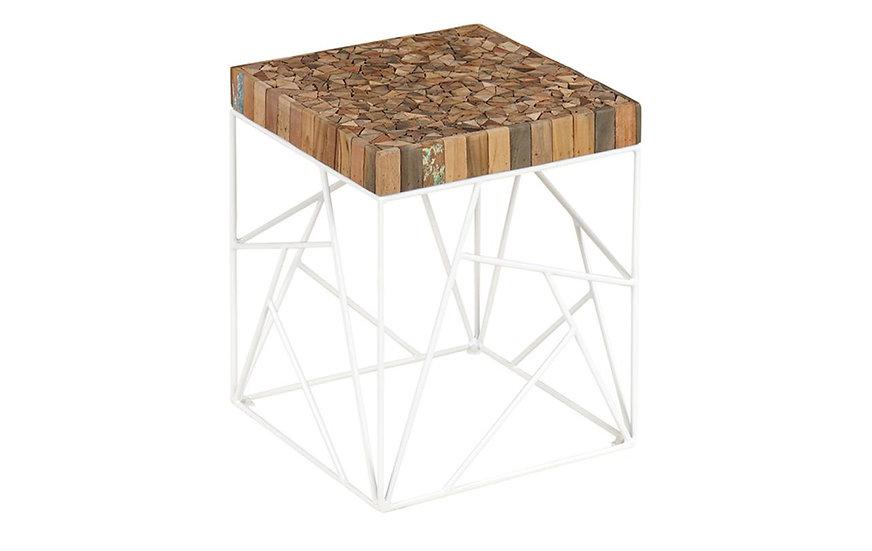 COASTAL INDUSTRIAL RUBIK SIDE TABLE / STOOL