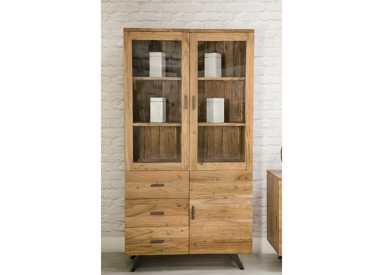 INDUSTRIAL LUXE 3 DOOR 3 DRAWER DISPLAY CABINET