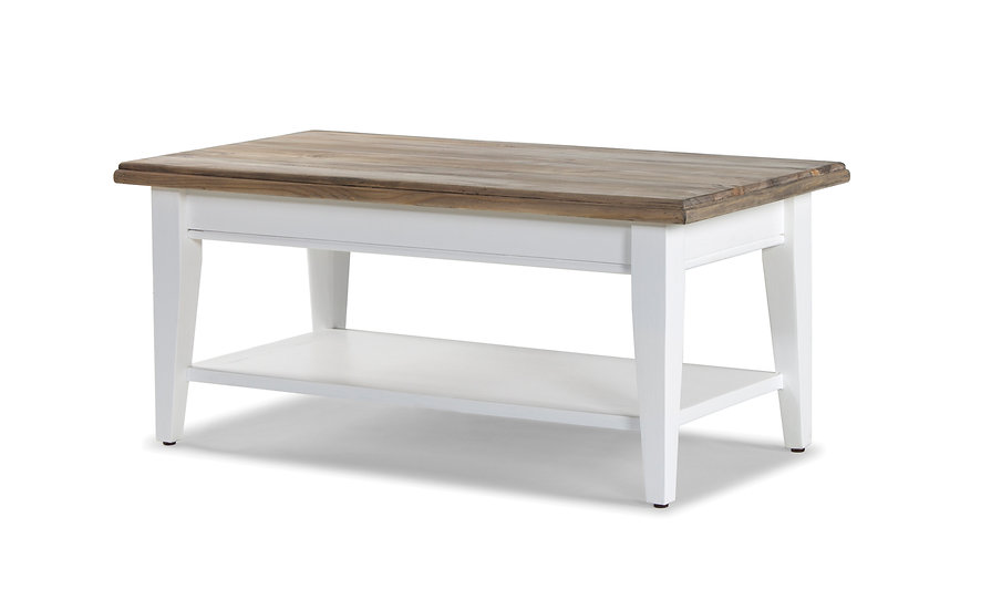 ASHLEY BRUSHED WHITE COFFEE TABLE