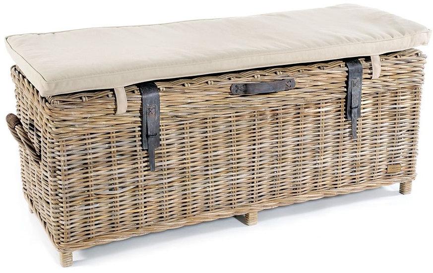 Maze Rattan Grey Storage Bench