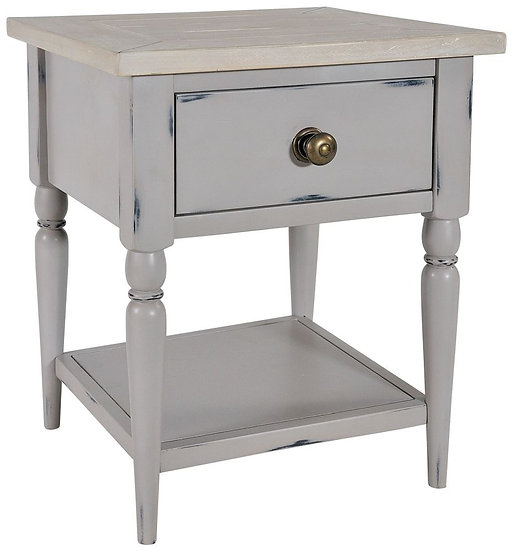 Wakefield Grey Painted 1 Drawer Lamp Table