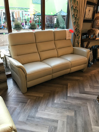 OSLO LEATHER 3 SEATER ELECTRIC RECLINER