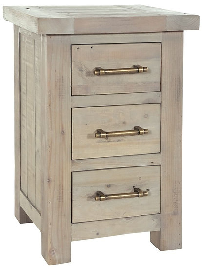 Ashley Rustic Reclaimed Wood 3 Drawer Chest