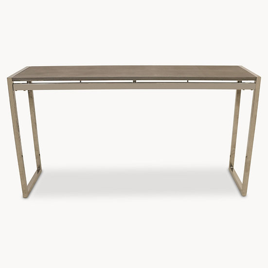 SEYMOUR STAINLESS STEEL AND SHAGREEN CONSOLE TABLE