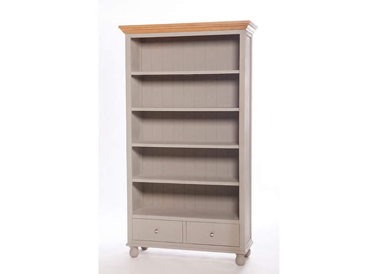 Avoca Painted 2 Drawer Tall Bookcase