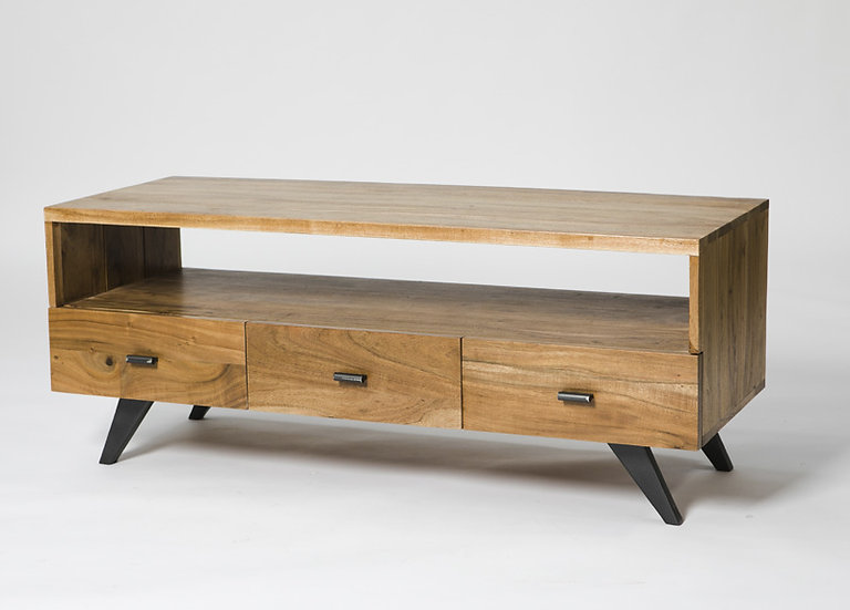 INDUSTRIAL LUXE 3 DRAWER TV UNIT
