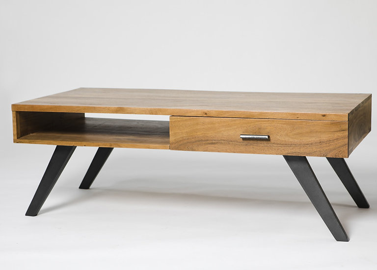 INDUSTRIAL LUXE 1 DRAWER STORAGE COFFEE TABLE