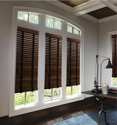 Wood venetian blinds at Paul Edwards Interiors