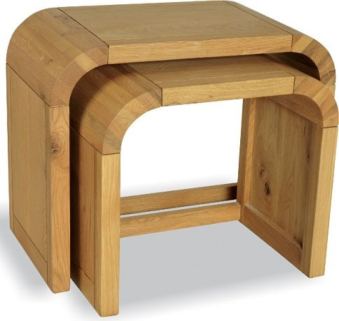 LILLY OAK PETITE NEST OF 2 TABLES