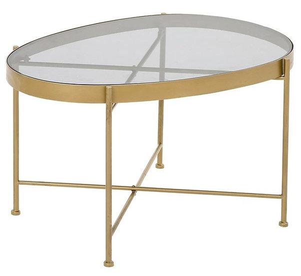 AUSTIN COFFEE TABLE SMALL (GREY GLASS)
