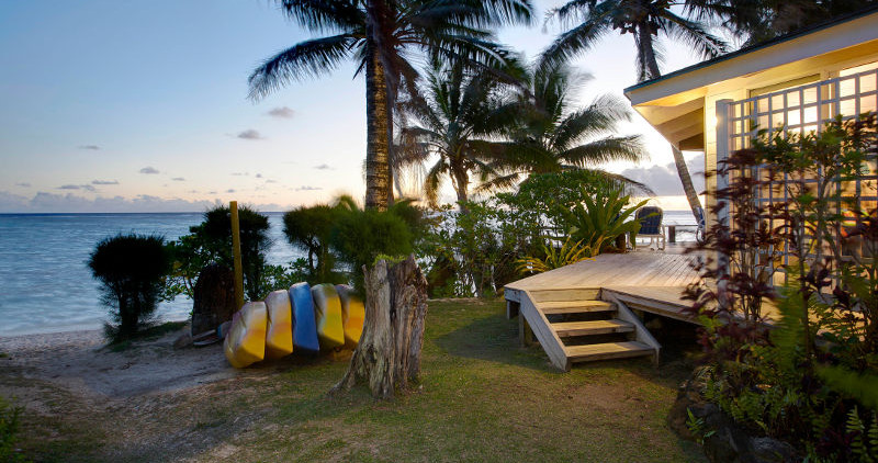 Beach outside Coral Villa