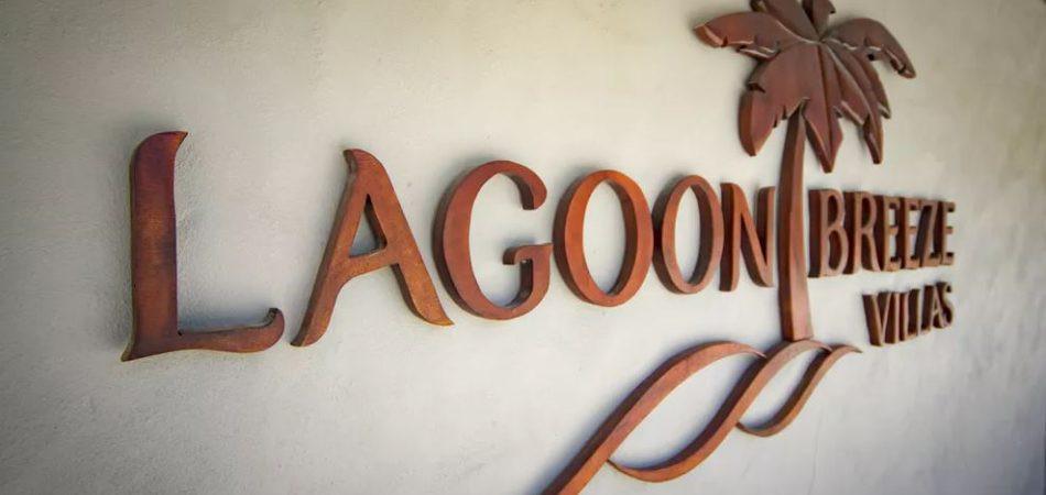 Lagoon Breeze Villas sign