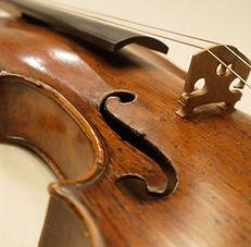 violin old wood strings bridge