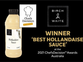 Birch & Waite wins 'Best Hollandaise' at 2021 ChefsDecision Awards
